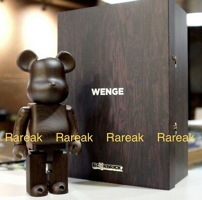 $2866.99 • Buy Medicom Plus Be@rbrick 2017 Karimoku Wooden 400% Wenge Wood Bearbrick 1pc