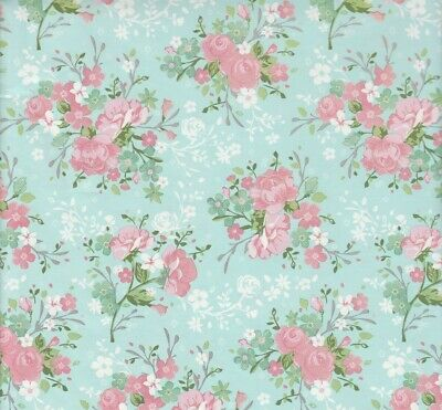Blue Floral Flowers - Wrapping Paper - Gift Wrap - 2 Sheets  - 70x50cm  Birthday • 1.99£