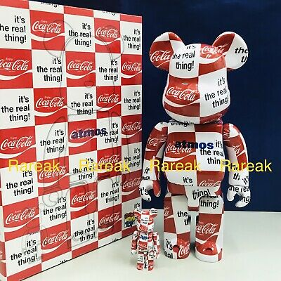 $260.99 • Buy Medicom 2019 Bearbrick Atmos Coca Cola 400% & 100% Be@rbrick Boxset 2pcs