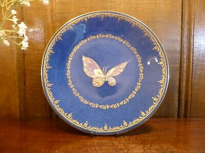 £89.95 • Buy ANTIQUE EXCELLENT Wedgwood BUTTERFLY LUSTRE Powder Blue & Gilt PLATE - 23.5cms A