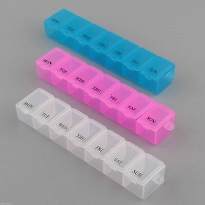£2.25 • Buy 7 Day Pill Box Medicine Tablet Dispenser Organiser Weekly Storage Weekly Daily 7