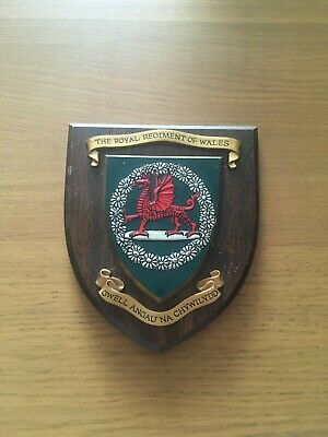 Royal Regiment Of Wales Wall Plaque Regimental Militaria • 20£