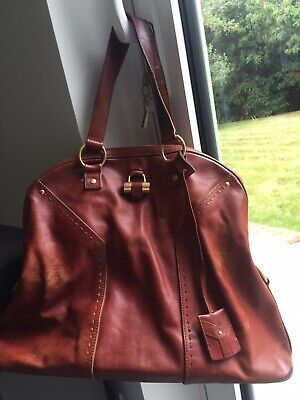 Yves Saint Laurent  Muse  XL Bag In Tan Leather • 147.99£