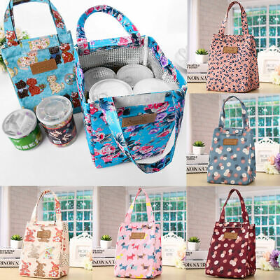 Adult Womens Kids Girls Portable Insulated Lunch Bag Box Picnic Tote Cooler AAA • 2.96£
