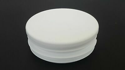 50mm-10pcs Round Plastic White Blanking End Cap Caps Tube Pipe Inserts Plug • 5.80£