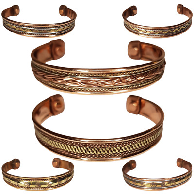 Copper Bracelet Bangle Arthritis Pain Relief Therapy Magnetic Ladies Mens Women • 6.99£