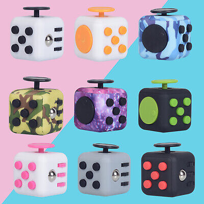 AU11.49 • Buy Fidget Cube 3D Anti-anxiety Focus Stress Reliever Toys Kids&Adult Hand Desk Toy