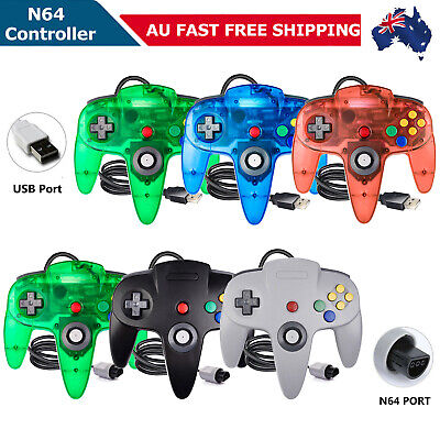 AU24.99 • Buy Wired N64 Controller USB Remote Gamepad Joystick For Nintendo 64 N64 Game System