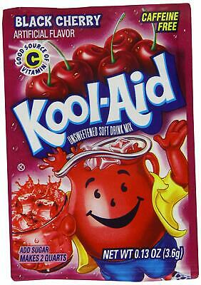 Kool Aid Black Cherry Flavour Drink Sachets - Rare Us Import - 3.6g - Uk Seller • 9.99£