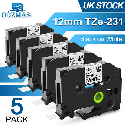 £23.99 • Buy Compatible Label Tape Fit Brother TZe-231 P-Touch White 12mm PT-1000 PT-H101C