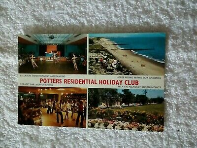 1970s CARD;NORFOLK;POTTERS RESIDENTIAL HOLIDAY CAMP;HOPTON ON SEA;GT YARMOUTH • 12£