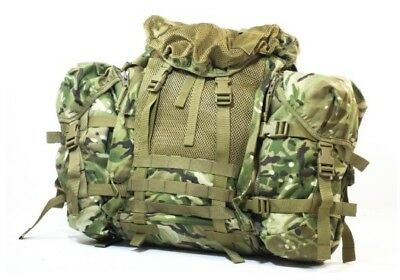 New Karrimor SF Lightweight British Army MTP ECM Bergen With Side Pouches T011 • 79.95£