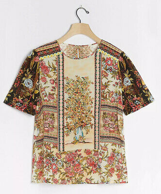 $ CDN105.67 • Buy New Anthropologie Vineet Bahl Tori Embroidered Top Size Small Rare