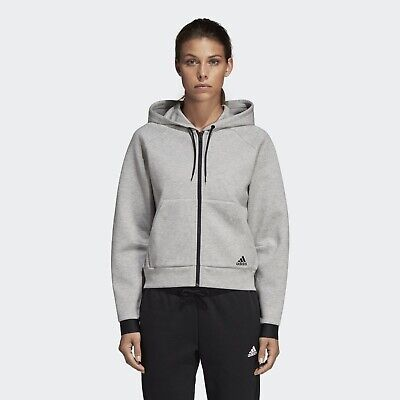 AU55 • Buy Bnwt! Adidas Essentials Zip Up Hooded Jacket! Grey And Black! Size S! Rrp, $110