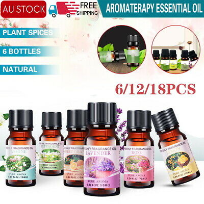 AU11.99 • Buy 10 Essential Oil 100% Pure & Natural Aromatherapy Diffuser Fragrance Oils Aroma