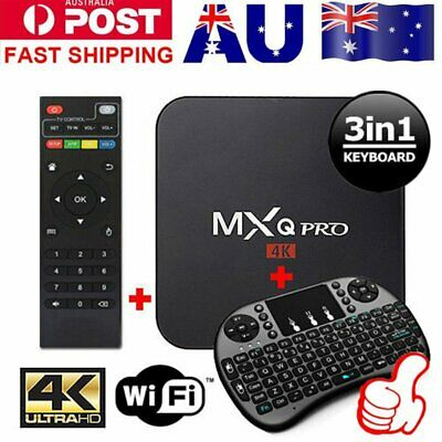 AU69.99 • Buy AU MXQ PRO 4K TV BOX Android 7.1 Quad Core KD 17.4 Smart Media Player 1GB+8GB Eb