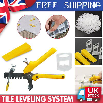 Tile Leveling Spacer System Kit Wall Floor Construction Tool Clips Wedges Plier • 24.99£