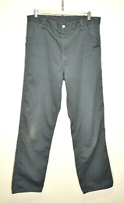 VINTAGE CARHARTT USA SIMPLE PANT OLD STYLE MOD WORKWEAR UTILITY TROUSERS 36x34 • 32.95£