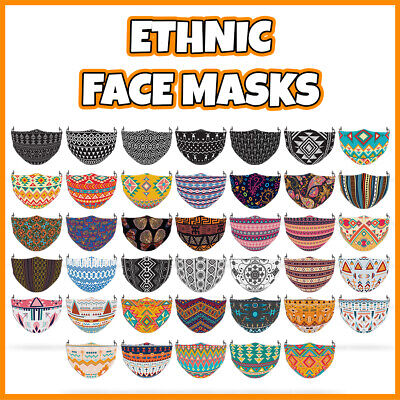 £7.99 • Buy COLOURED Ethnic Pattern Face Mask Covering ADULTS MASKS