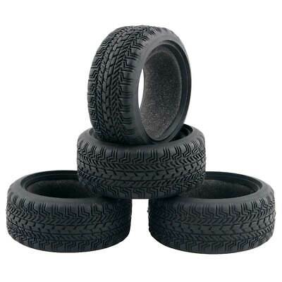4pcs 1/10 On-road RC Car Tires With Foam 26mm Rubber Tire Set For Tamiya TT01 • 8.99£