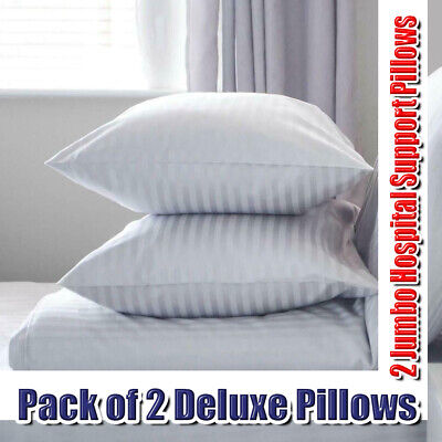 Pack Of 2 Pillow Orthopaedic Pillow Head Neck Back Pain Hospital Support Pillow • 11.49£