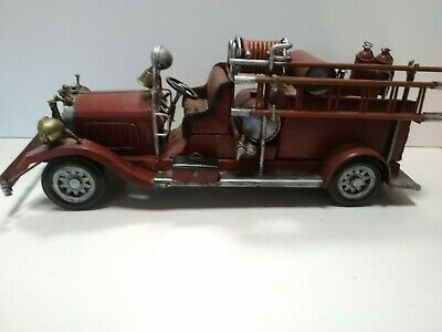 Handcrafted 1920s Fire Engine Pump Truck 13 1/2  Long • 460.02£
