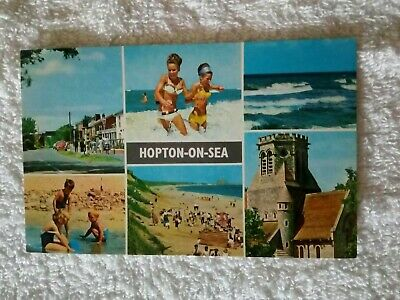 1970s MULTIVIEW CARD;NORFOLK;HOPTON ON SEA; GREAT YARMOUTH • 6£