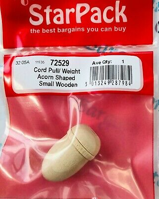 £1.25 • Buy Fine Small Pine Wooden Acorn Shaped Pull /  Weight Cord 72529