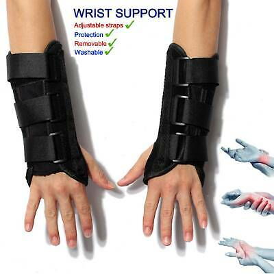 Wrist Support Splint Brace Syndrome Strap Carpel Tunnel CTS RSI Pain Relief UK • 10.86£