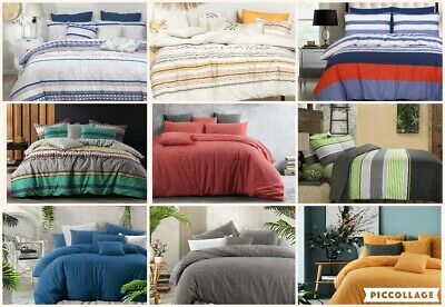 £30.35 • Buy Cotton Single Double Queen King Size Doona Duvet Quilt Cover Set With Pillowcase