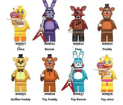 AU32.90 • Buy 8PCS Five Nights At Freddy's  Action Figures Collection Toy Freddy 4.5cm 6074