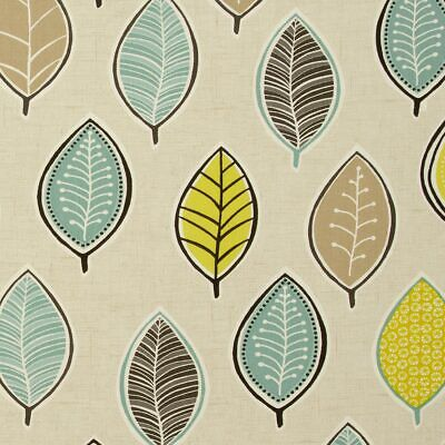 Clarke And Clarke Coco Leaves Chartreuse PVC WIPE CLEAN Tablecloth Oilcloth • 6.99£
