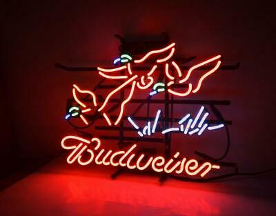 $ CDN276.99 • Buy 24 X20 Pheasant Budweiser Neon Sign Light Beer Bar Pub Real Glass Tube Artwork