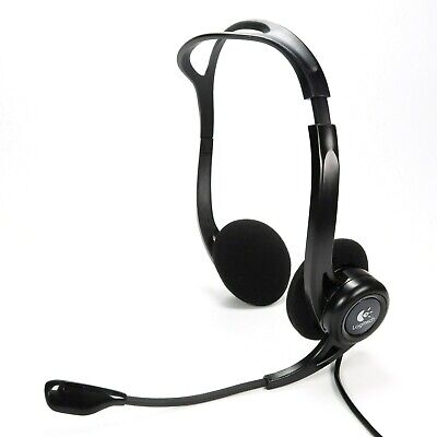 Logitech 960 PC Stereo Headset New Ear Cushions USB Wired Skype Zoom - Tested • 8.62£