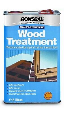 RONSEAL Multi Purpose WOOD TREATMENT 5L 33338 Protects From Insects And Woodworm • 25£