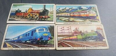 4 X Kellogg Cards - The Story Of The Locomotive - No 4/5/7/15 • 1.50£