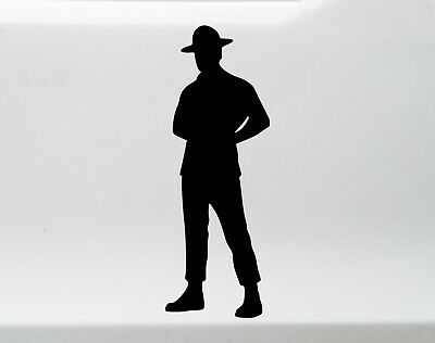 $6.49 • Buy Drill Instructor Sergeant Vinyl Decal - Boot Camp Male Turned - Die Cut Sticker