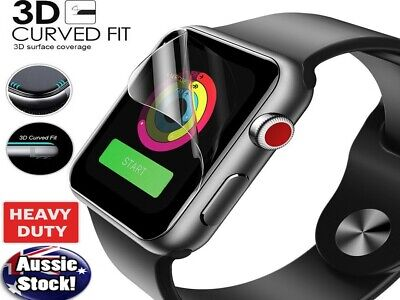 AU3.99 • Buy FOR Apple Watch Series 5 4 3 2 44 42 40 38 HYDROGEL Full Cover Screen Protector