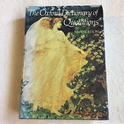£4.80 • Buy Vintage 1982 Oxford Dictionary Of Quotations Hardback Book Third Edition