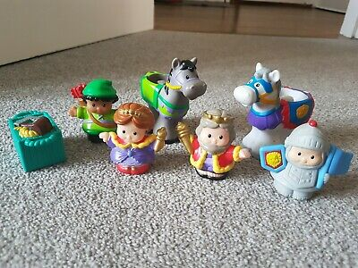 Little People Figures Fisher Price Bundle King Queen Knight Horse Set • 6.01£
