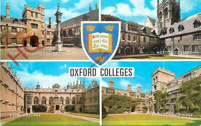 Picture Postcard~ Oxford Colleges (Multiview) [Salmon] • 3.49£