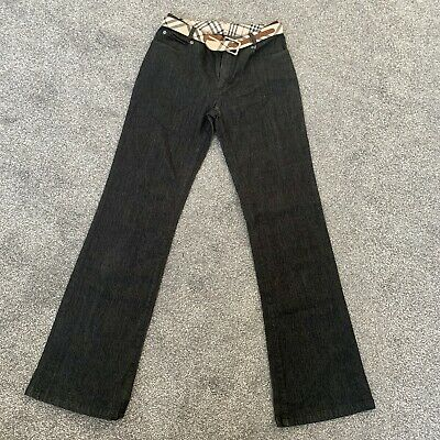 Burberry Black Wash Vintage Bootcut Jeans With Burberry Belt Size 8 • 48£