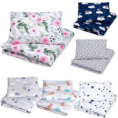 2 Piece Baby Bedding Set Cot Bed Junior Bed Toddler Duvet Cover + Pillowcase New • 11.99£