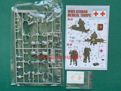 Dragon 6074 1/35 (w/decals, No Original Box) GERMAN MEDICAL TROOPS • 12.50£