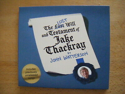 John Watterson - The Lost Will & Testament Of Jake Thackray-digi Pack/BOOKLET-CD • 5.99£