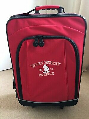 Vintage Disney Mickey Mouse Cabin Luggage Suitcase • 25£