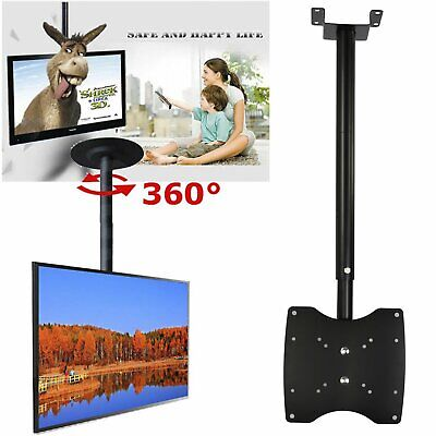 TV Monitor Roof Ceiling Bracket Wall Mount For 23 26 32 39 40 42 Inch Loft UK • 11.69£