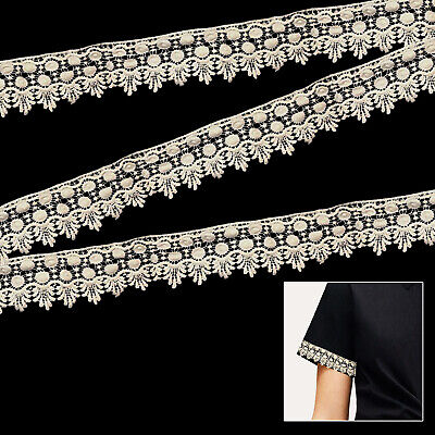 Fabric Cotton Lace Trim Ribbon 2 Metres Ivory Vintage Scalloped Edge For Sewing • 4.38£