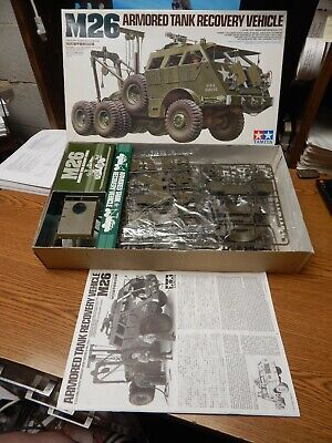 $70 • Buy Tamiya M26 Armored Tank Recovery Vehicle Model Kit Unstarted Lqqk