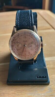 Titus Geneve 18 Ct Gold Watch - 38mm Chronograph Very Good Condition • 700£